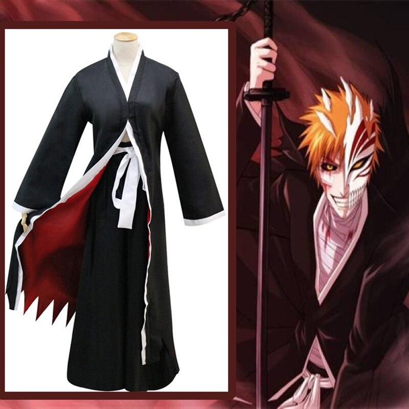 Anime Trajes Cosplay Bleach Ichigo Kurosaki Cosplay Morte Traje Uniformes de Jogo de Festa de Halloween Unisex Cosplay