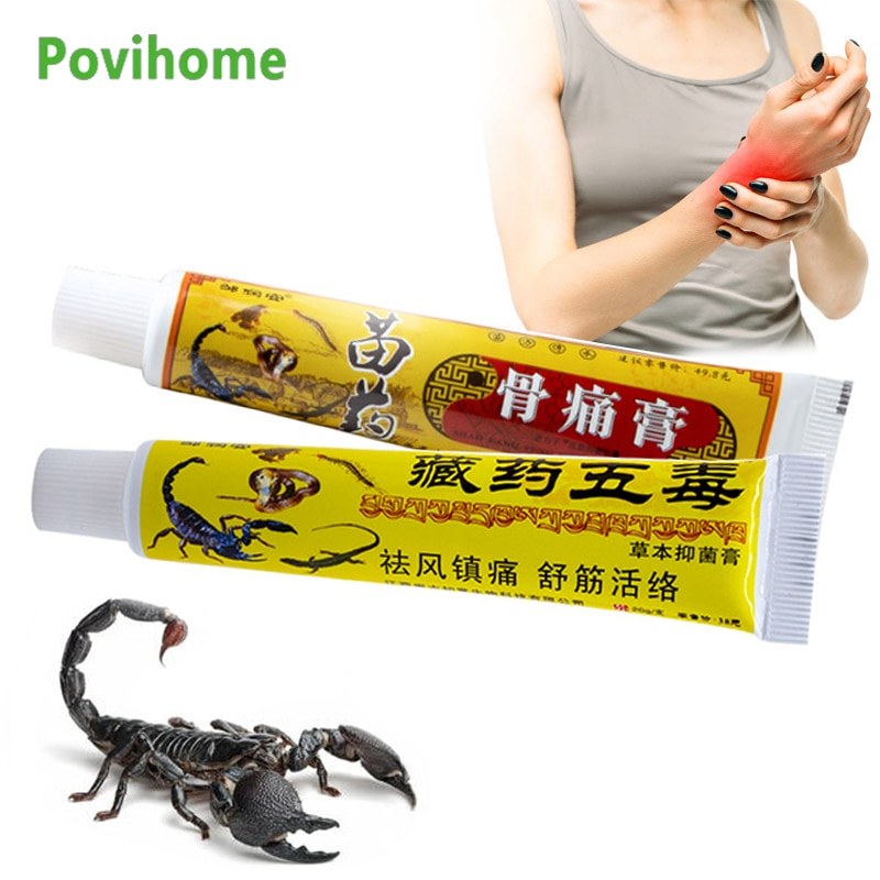 2Types Scorpion Venom Analgesic Ointment Arthritis Rheumatism Cervical Joint Muscle Pain Relief Cream Back Neck Knee Health Care