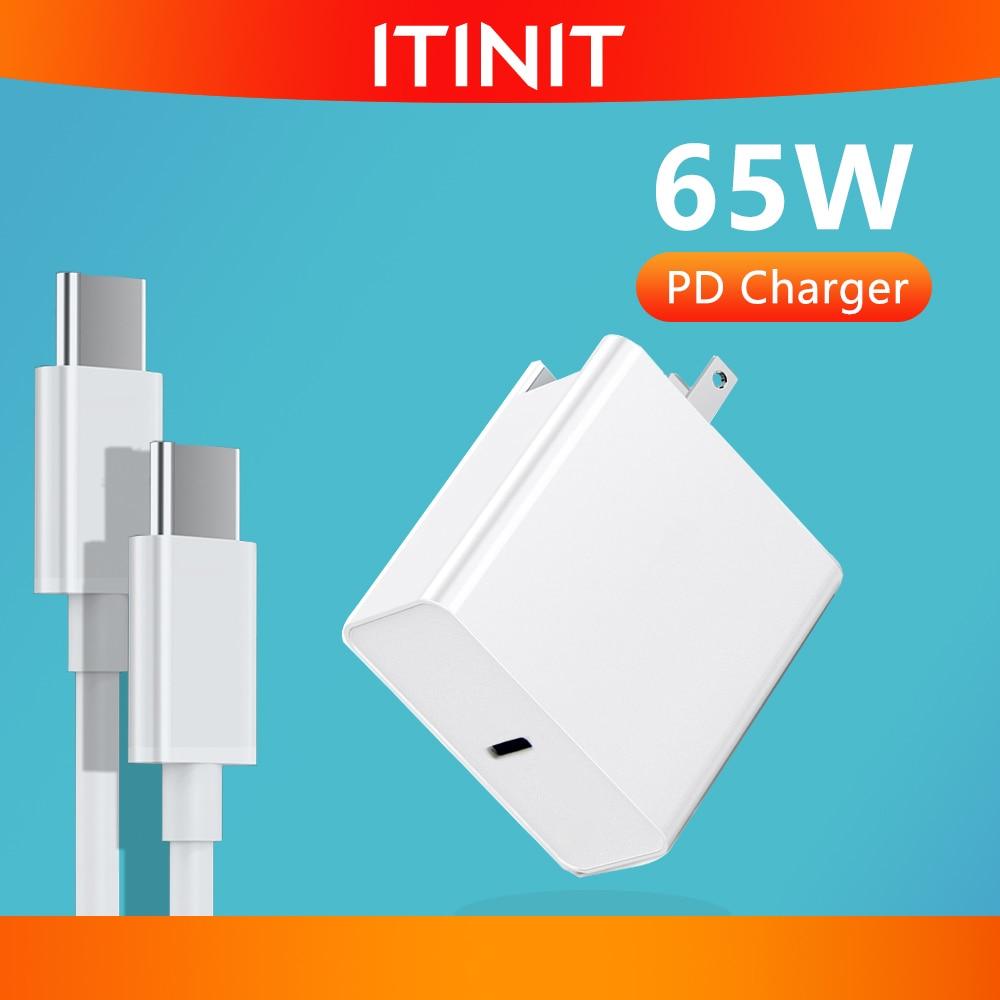 Adaptador de Energia Carregador para Macbook Usb para Samsung Itinit Tipo-c Usb-c 1 Porta Pd60w Qc3.0 Pro – ar Ipad 2 Portas Iphone C11 65w