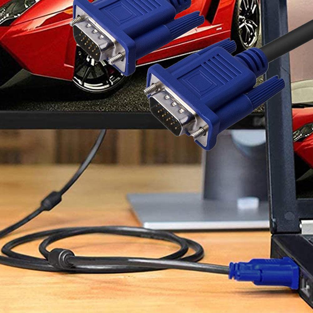 Cable VGA de 1,5 M, Conector de extensión macho a macho de...
