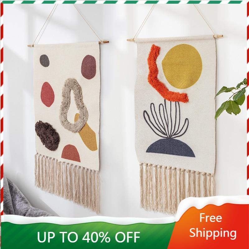 Tapices de granja con diseño de pared, decoración moderna de macramé nórdico Vintage, estética para habitación, Alfombra de pared de granja, Toalla de Playa, pancarta