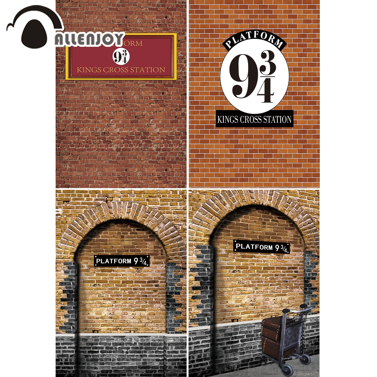 Фото - Allenjoy Witch Photographic Backgrounds Photophone Red Brick Wall Magic School Kings Cross Station Platform Children Backdrop adrian magson red station