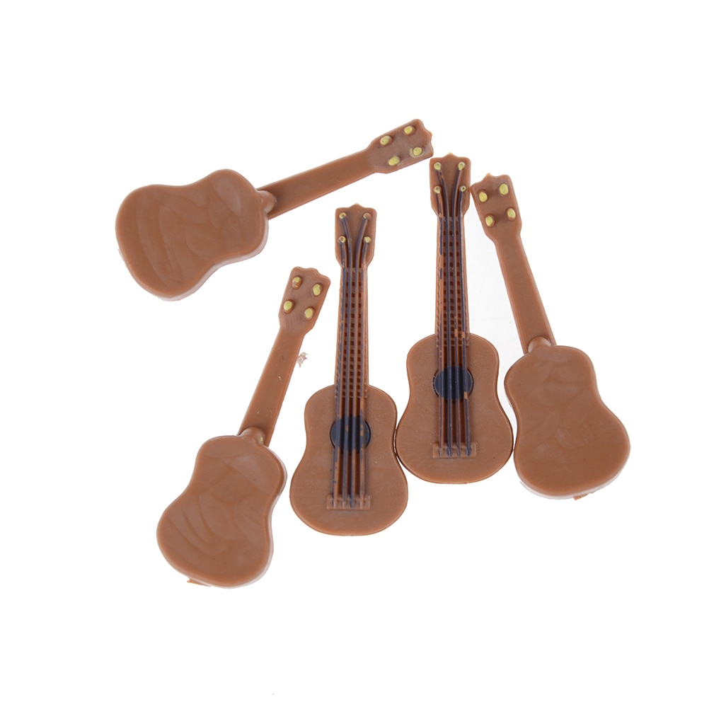 New Hot 1PCS Dollhouse Miniature Guitar Accessories Instrument DIY Part for Kids Gift Wood Craft Orn