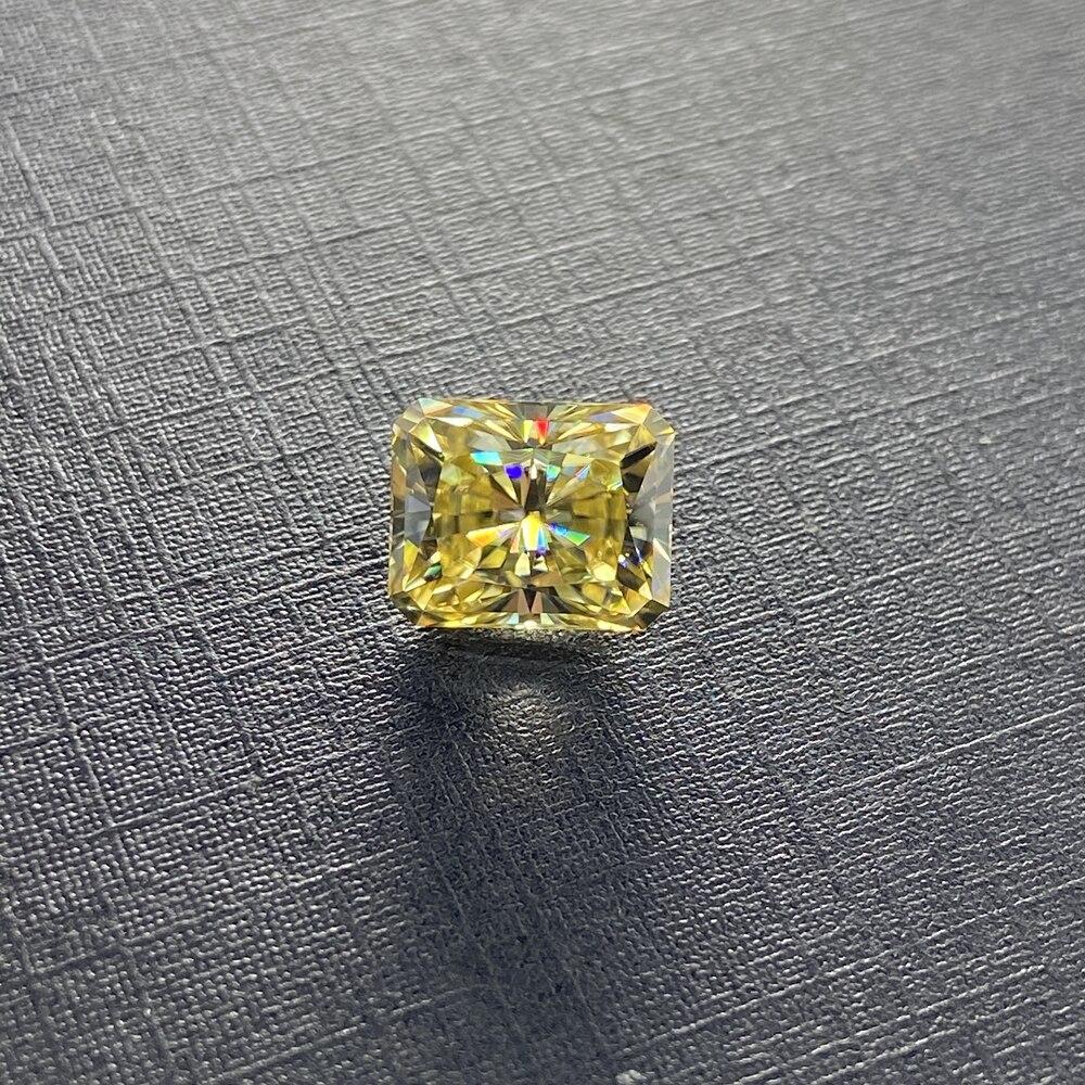 Meisidian مشع قطع 10x8 مللي متر 3.5cts مويزانايت مفكوك حجر يتوهم خاتم الماس الأصفر