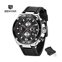 benya 2021 top fashion casual men business quartz watch multifunctional 30m waterproof leather calendar clock relogio masculino
