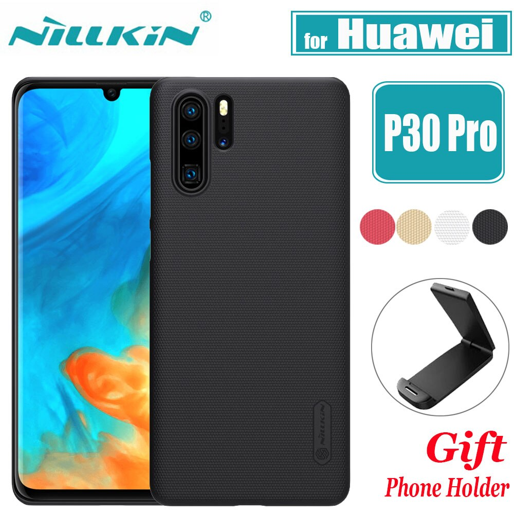Huawei P30 Pro Fall Abdeckung Nillkin Bereifte Harte PC Kunststoff Volle Abdeckung Zurück Fall auf Huawei P30 Pro Shell Nilkin geschenk Telefon Halter