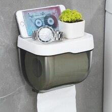 ห้องน้ำกระดาษผ้าเช็ดตัวผู้ถือพลาสติก WC ห้องน้ำกระดาษผู้ถือเก็บชั้นวางกระดาษกล่อง