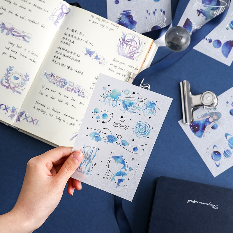 Наклейки серии мохамм Dream Star, наклейки для скрапбукинга, бумажная декорация для девочек, модная стационарная наклейка для скрапбукинга