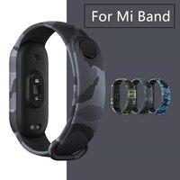 Камуфляжный ремешок для Mi Band 6 5 4 3, сменный силиконовый браслет для Xiaomi Miband6 Miband5 Miband4, ремешок для умных часов