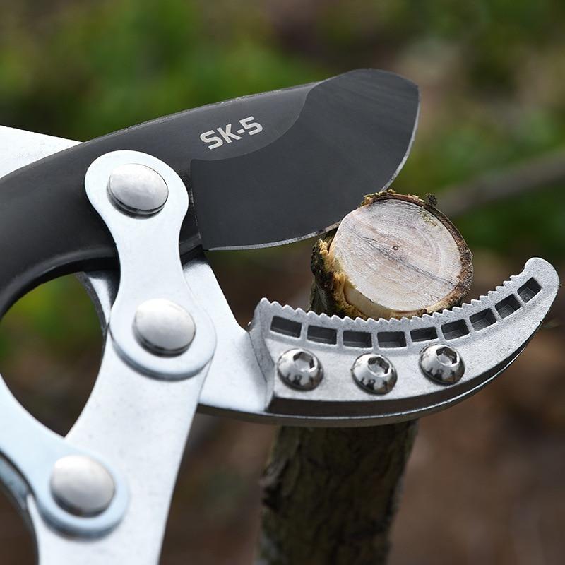 New Telescopic Long Length Scissor Hedge Anvil Shear Anti-Slip Grip Garden Pruning Hand Tool Ratchet Cut Tree Branch