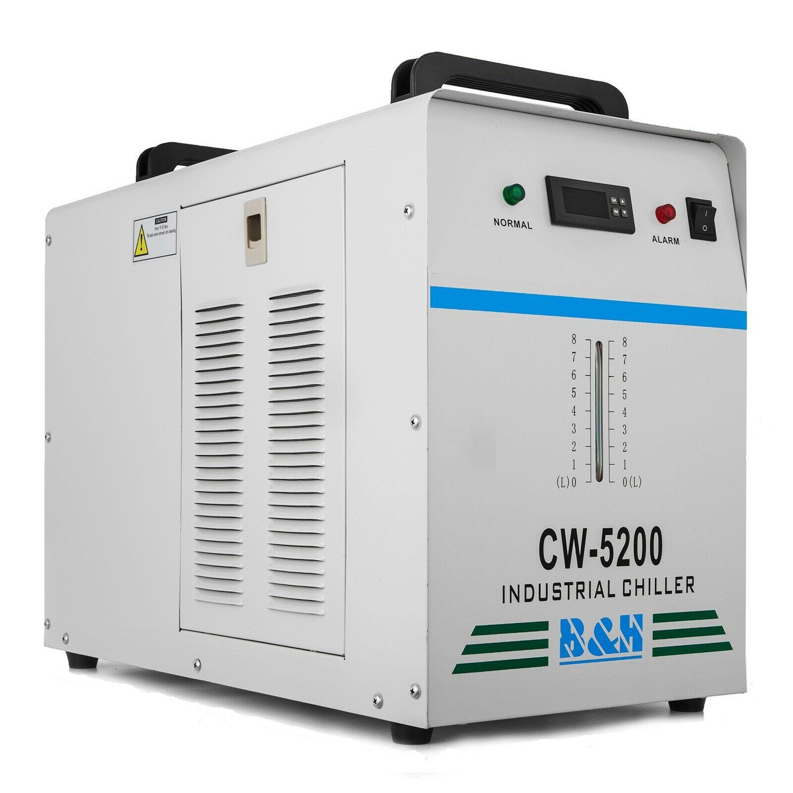 CW-5200DG Industrial Water Chiller for Single 130/150W CO2 Laser Tube 220V