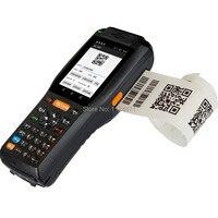 4G Android 13.56HZ Handheld RFID reader 2D Image QR Barcode Scanner Industry Handheld Terminal With printer(2D version)
