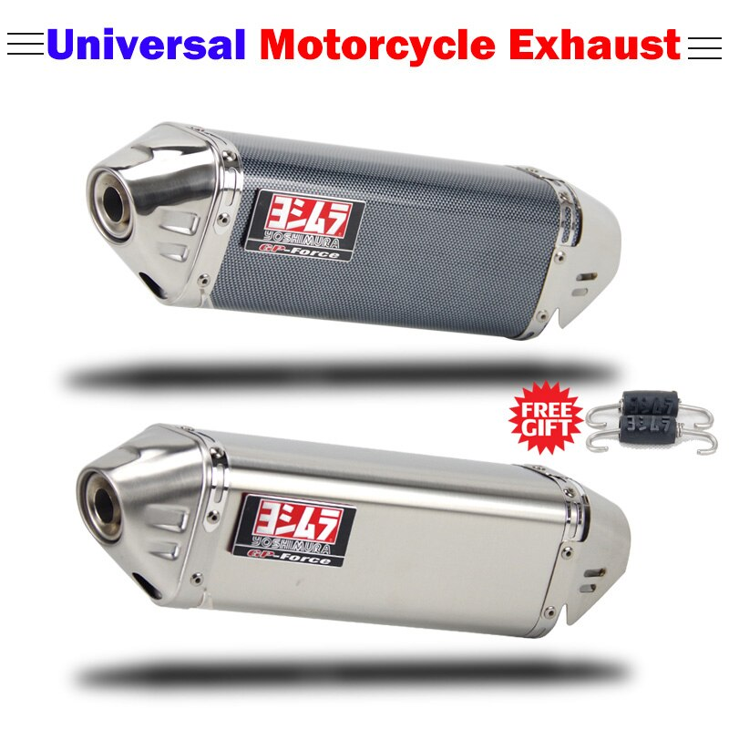 Universal motorcycle exhaust muffler Yoshimura escape moto with DB killer for Kawasaki ninja Z900 er6n zx6r s1000RR xmax R6 R15