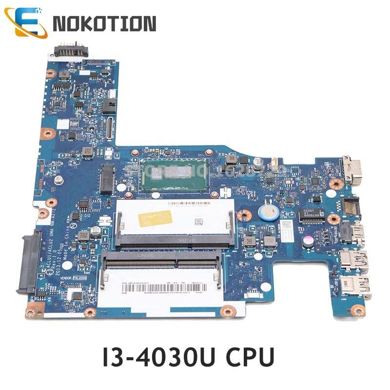 Материнская плата NOKOTION для ноутбука Lenovo ideaPad G50-70 SR1EN Z50-70 DDR3L 5B20G38593 ACLU1 ACLU2 UMA I3-4030U