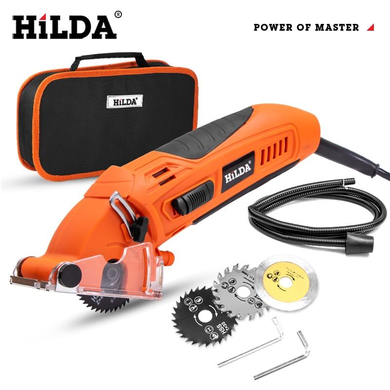 HILDA 400 واط منشار كهربائي صغير منشار دائري كهربائي لتقوم بها بنفسك متعددة الوظائف منشار كهربائي أدوات كهربائية أداة دوارة للنجارة