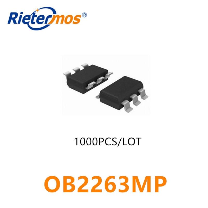 1000 قطعة OB2263MP OB2263 OB2263M SOT23-6 الأصلي