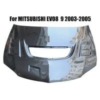 for mitsubishi evo 8 9 2003 2005 carbon fiber evo 8 engine hood protector evo 9 bonnet cover c style car styling