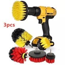 3 pièces 6 couleurs électrique perceuse brosse coulis puissance forets épurateur nettoyage brosse baignoire nettoyant outils Kit pour cuisine salle de bain