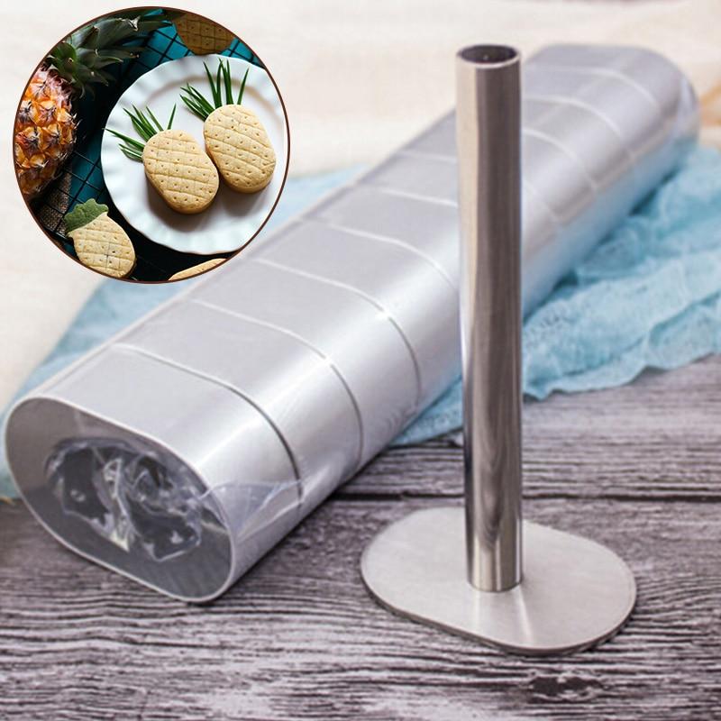 10 peças forma de abacaxi bolo torta biscoito cortador pão molde 1 pressionando molde para cortar biscoito massa bolo cortador ferramentas
