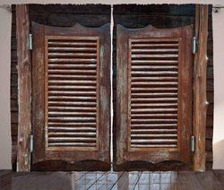 Ocidental cortinas antigo temático tradicional rústico oeste selvagem balanço de madeira cowboy bar saloon porta sala estar quarto janela