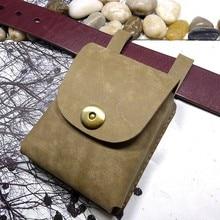 Blongk Mini sac de taille en cuir véritable petite ceinture Pack fait à la main permis de conduire étui porte-carte voiture clé pochette hommes femmes SFX-J