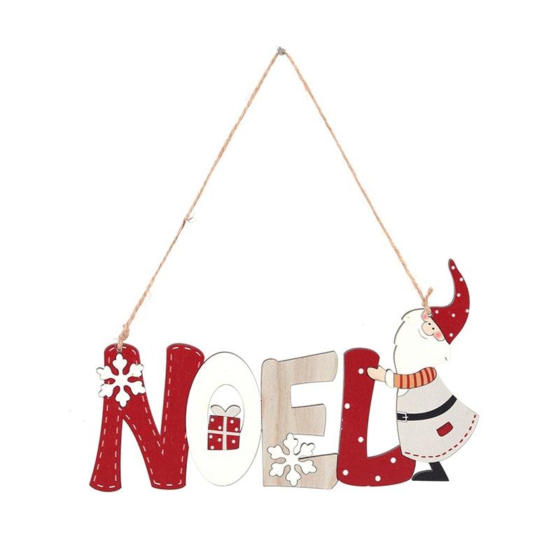 Holz Brief Karte Anhänger/Santa Brief Karte Anhänger/Weihnachten Baum Dekorationen/Weihnachten Atmosphäre Decor