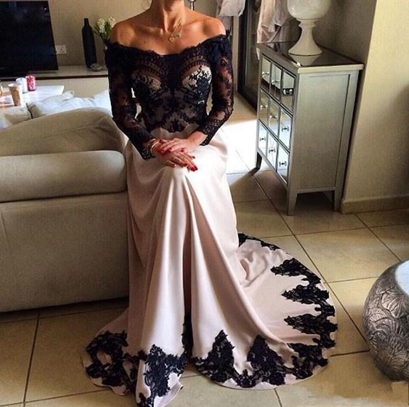 Кружевные атласные вечерние платья трапециевидной формы, вечерние платья с открытыми плечами, длина до пола, африканские женские вечерние ...