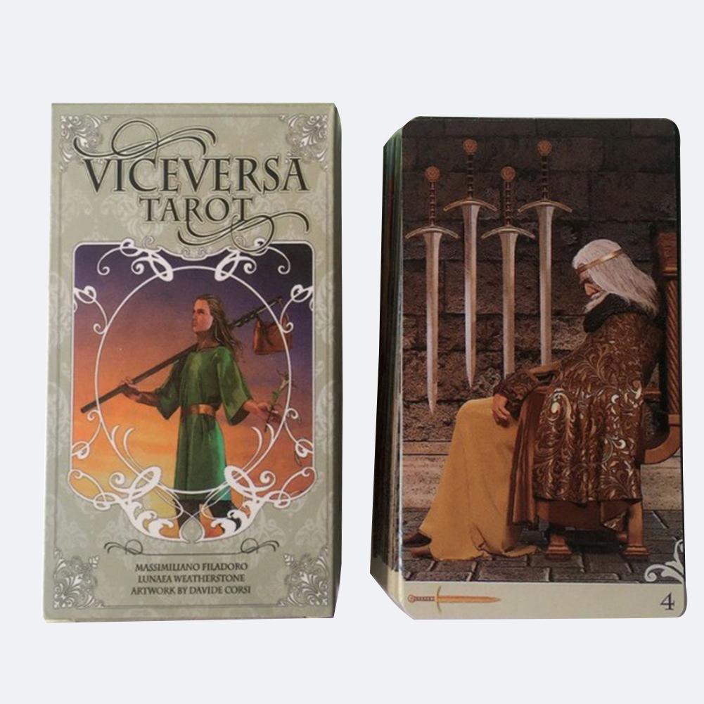 Caliente 78 Uds viceversa Kit de Tarot, tarjetas de Oracle cubierta juegos para la familia reunión fiesta jugando a las cartas