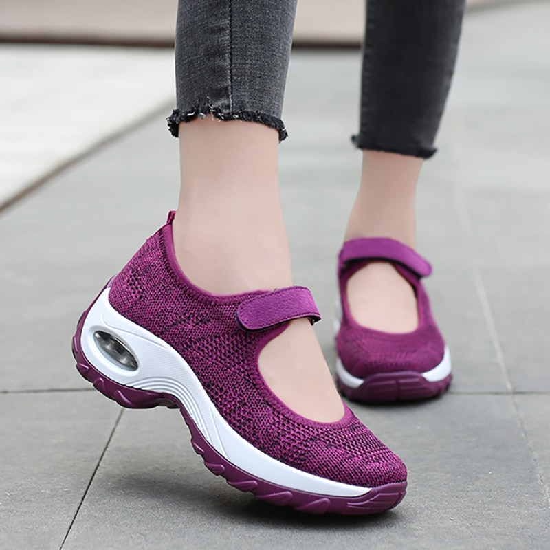 Air Cushion Sneakers Women Lightweight Running Shoes Summer Breathable Walking 2021 Hot Sale Fashion Female