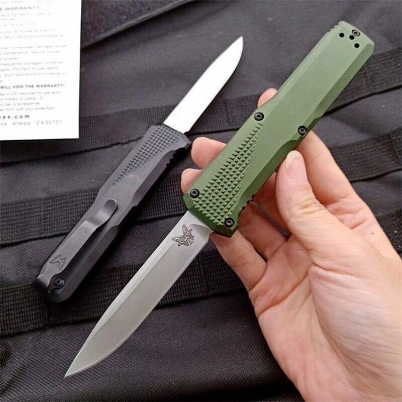 High Hardness Benchmade 4600 Folding Knife S30V Blade T6 Aluminum Green Handle Self Defense Safety Pocket Knives EDC DJ33 enlarge
