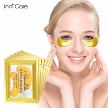 10 sztuk złota maska kolagenowa na oczy nawilżający odżywczy przepaska na oko rozjaśnić cienkie linie przeciw zmarszczkom wiek torba Puffy uroda pielęgnacja skóry