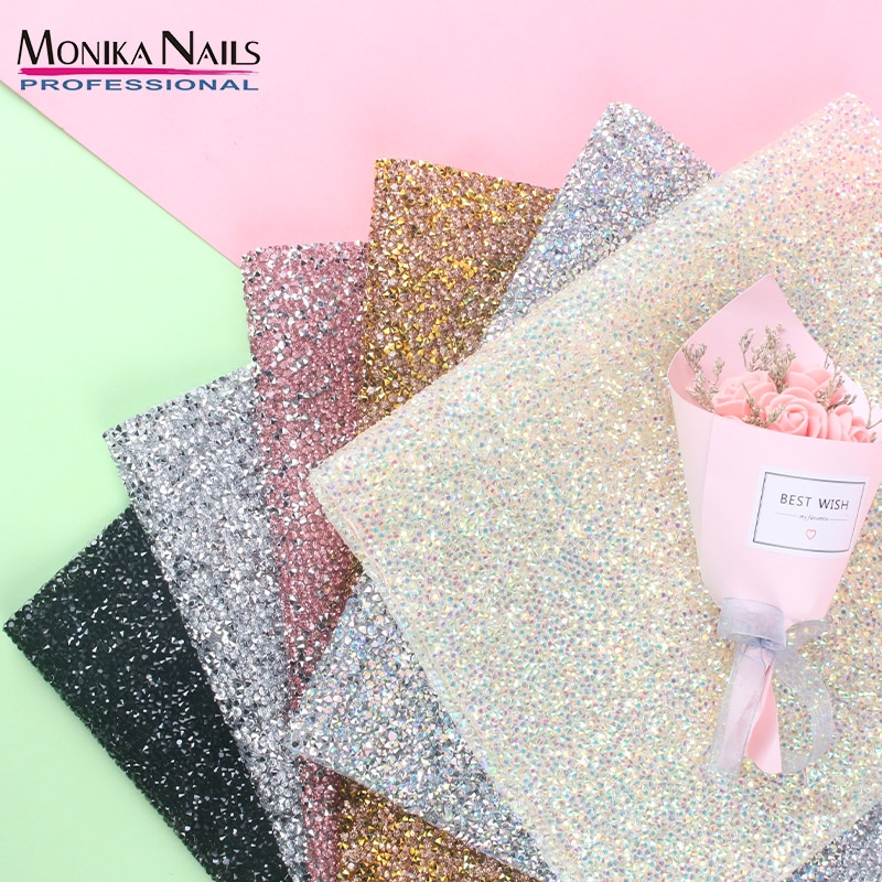 6 Types Shining Nail Art Diamond Table Mat Hand Rests Practice Cushion Washable Sliver Pad Pillow Hand Holder Manicure Tool
