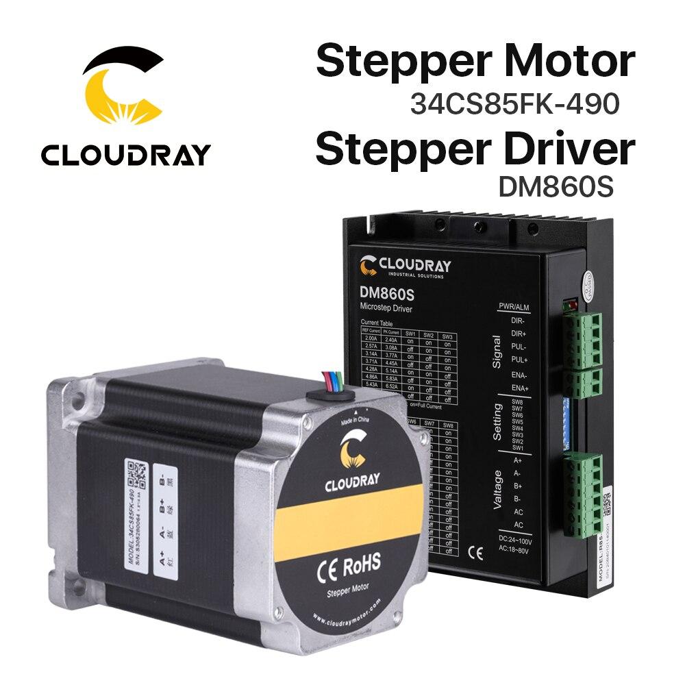 Kit de Motor paso a paso Cloudray Nema 34, Motor paso a paso 8.5N.m 4.9A 112mm, fresadora de grabado CNC de alto Torque