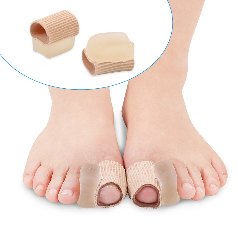 1 Pair Silicone Gel Toe Separator Straightener Bunion Spacers Support Foot Corrector Hallux Valgus R