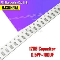 100 шт. 1206 50В SMD Плотная пленка hjxrhgal чип многослойный керамический конденсатор 0.5pF-100 мкФ 10NF 100NF 1 мкФ 2,2 мкФ 4,7 мкФ 10 мкФ 1PF 6PF