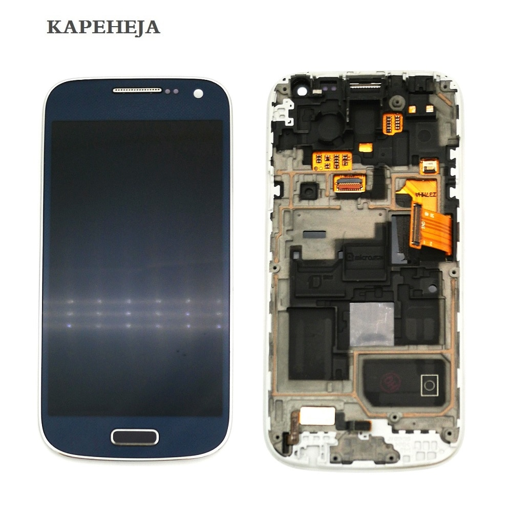 Super AMOLED LCD Display For Samsung Galaxy S4 mini I9190 I9192 I9195 LCD Display Touch Screen Digitizer Assembly with Frame samsung orginal b500ae b500be battery 1900mah for samsung galaxy s4 mini i9192 i9195 i9190 i9198 j110 i435 i257 b500ae 3 pin
