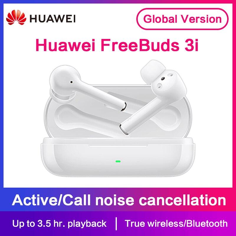 HUAWEI FreeBuds 3i-سماعة بلوتوث لاسلكية ، سماعة رأس TWS ، إلغاء الضوضاء النشط ، نظام 3-mic ، الإصدار العالمي