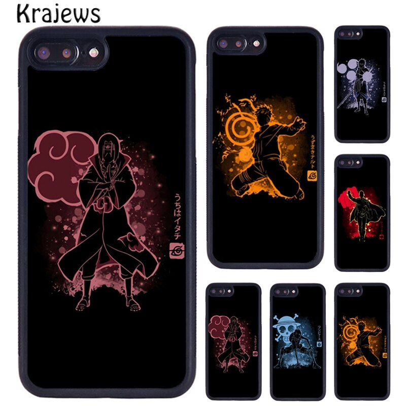 Krajews pintura Splat héroe Anime Naruto arte teléfono carcasa para iPhone 5 5 S 6 S 7 8 Plus 11 Pro X XR XS Max Samsung Galaxy S6 S7 S8 S9 S10