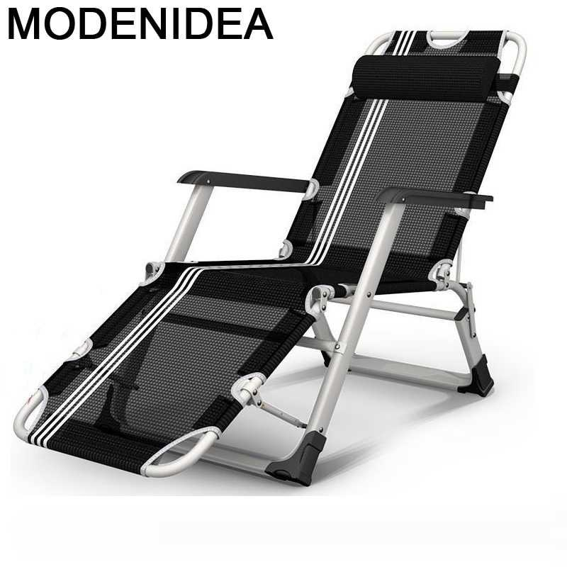 Movible-Silla De acampada para jardín, muebles De exterior, Cama plegable, Tumbona, salón...