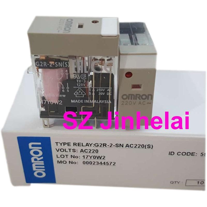 10 قطعة OMRON G2R-2-SN AC220(S) أصيلة الأصلي تتابع المتوسطة G2R-2-SN(S) 220VAC