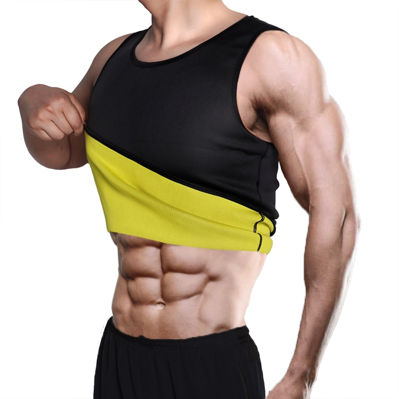 Slimming Belt Belly Men Slimming Vest Body Shaper Neoprene Abdomen Fat Burning Shaperwear Waist Sweat Corset Weight