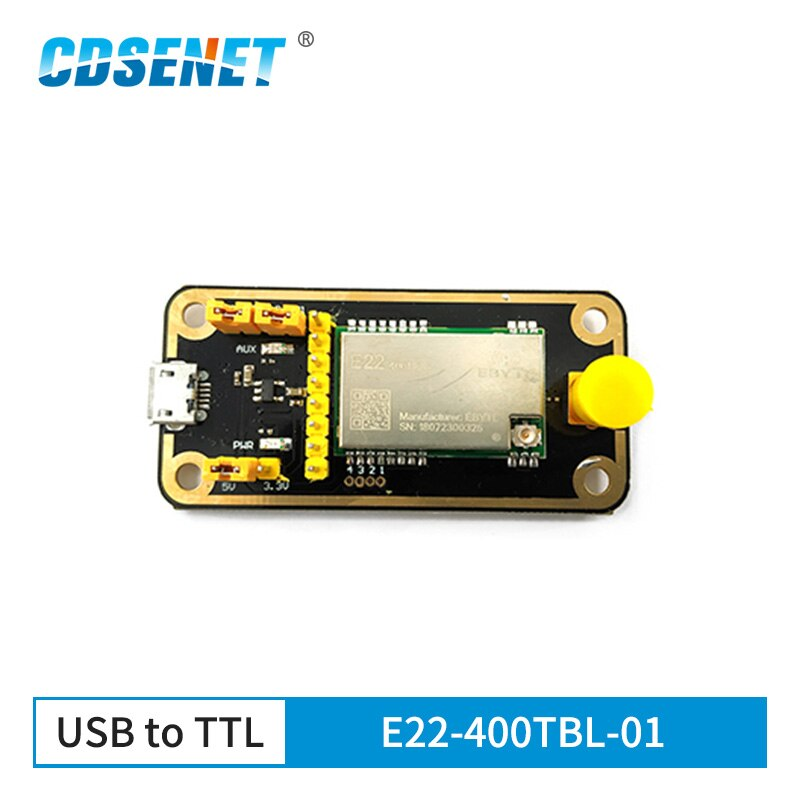SX1268 LoRa módulo 433M 5km de largo alcance USB Placa de prueba Kits E22-400TBL-01 LoRa 433MHz módulo transceptor rf para E22-400T22S