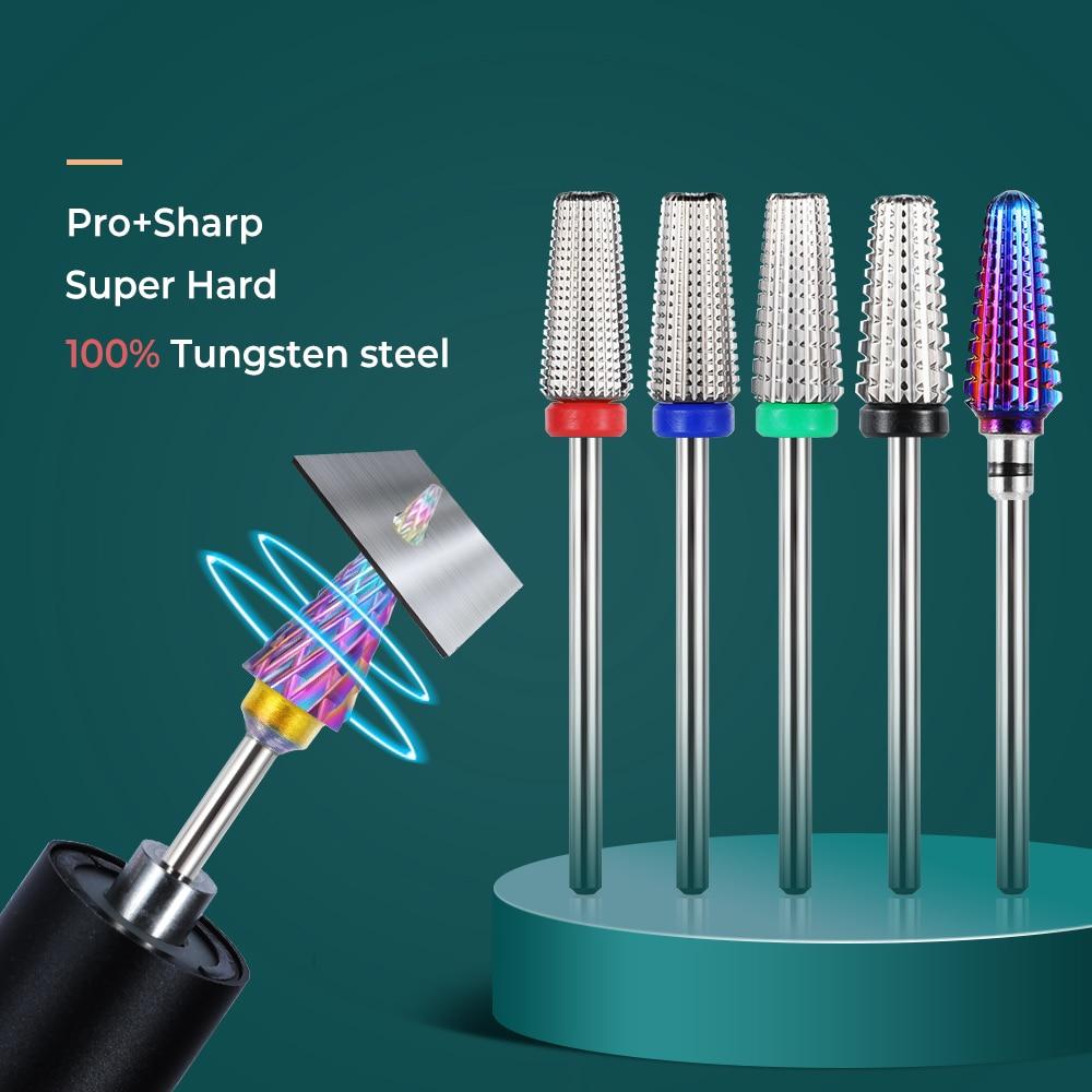 TP Nail Drill Bit Tungsten Carbide Electric Manicure Cutters Manicure Drill Tools Nails Accessories