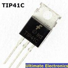 10 pièces TIP41C TIP41 NPN Transistor TO-220 NOUVEAU