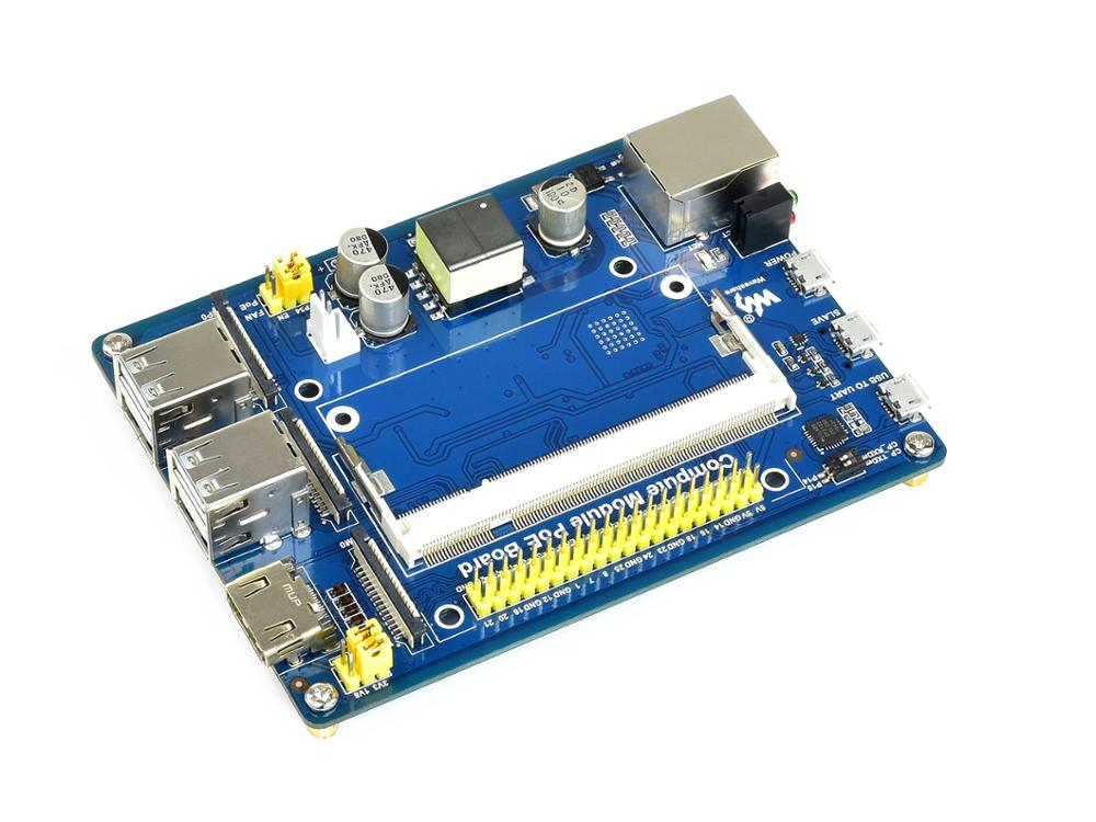 waveshare mini computer add ons based on raspberry pi compute module cm3 cm3l cm3 cm3 l Waveshare Compute Module IO Board with PoE Feature, for Raspberry Pi CM3 / CM3L / CM3+ / CM3+L