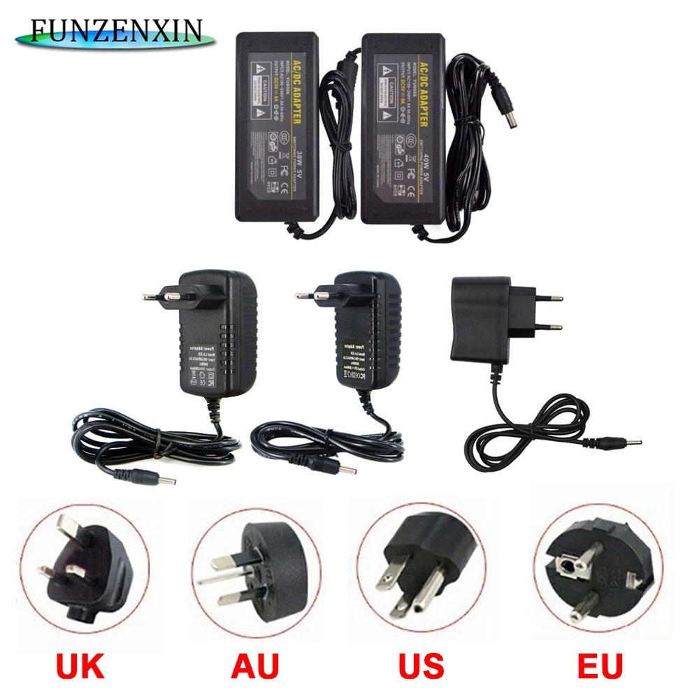 110-240V adaptateur ca à cc 5V 12 V 24V 2A 3A 4A 5A 6A 8A adaptateur secteur chargeur universel alimentation à découpage 12 volts LED bande lumineuse