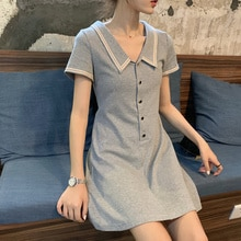 2020 New Style Fairy French Style Jung Ji Hoon A- line Dress Hong Kong Style Tight Waist Slimming Ti