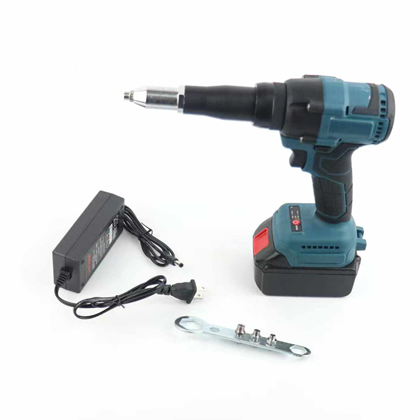 Electric Rivet Gun Cordless Rivet Nut Gun Drill Insert Nut Pull Riveting Tool 3.2/4.8/5.2mmWith LED Light For Makita 21V Battery
