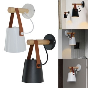Modern Nordic LED Wall Light Wooden Bedside Wall Mounted Wall Lamp Wall Sconce for Living Room Bedroom Decor Indoor Lighting