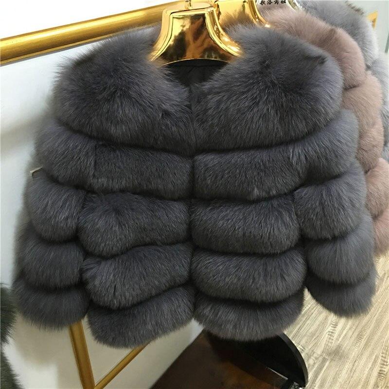 FURSARCAR frauen Fuchs Pelzmantel Warme Natürliche Echte Leder Fuchs Damen Dünne Kurze Leder Jacke 2020 Mode Lxury Dicke pelz